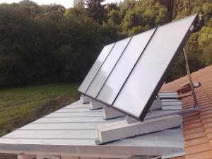 Warmwasser via Solaranlage