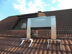 Wärmepumpe auf dem Dach